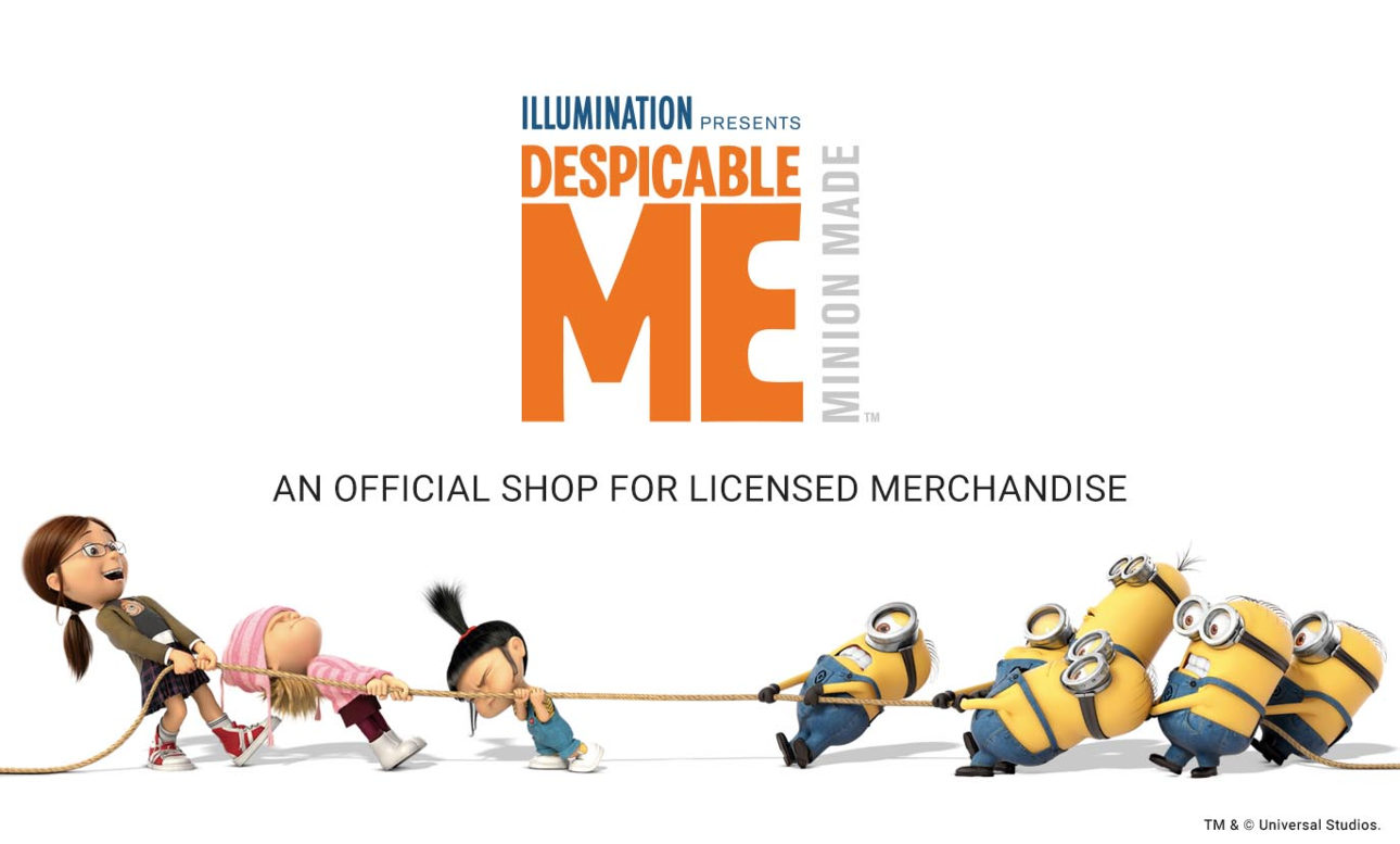An official shop for licensed merchandise - Despicable Me Minion Made