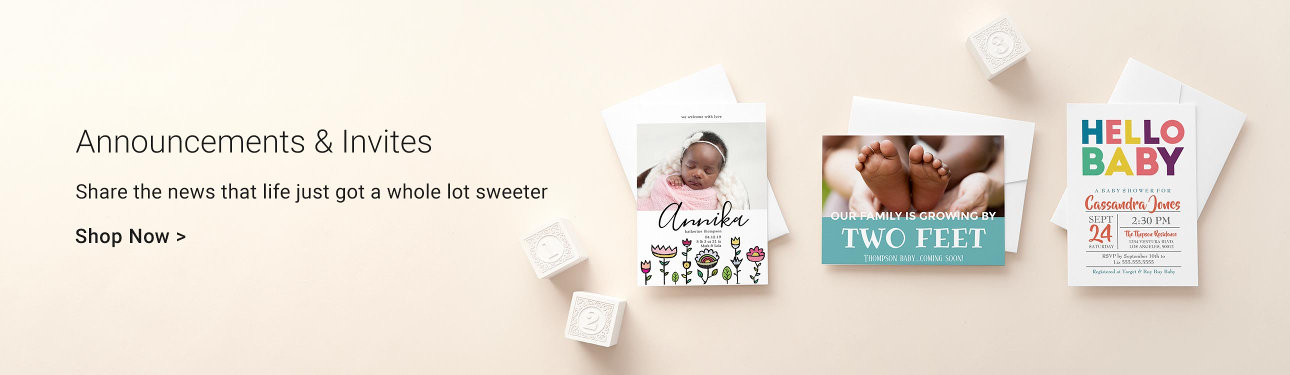 Personalized baby gifts baby products zazzle announcements invites share the news that life just got a whole lot sweeter negle Images