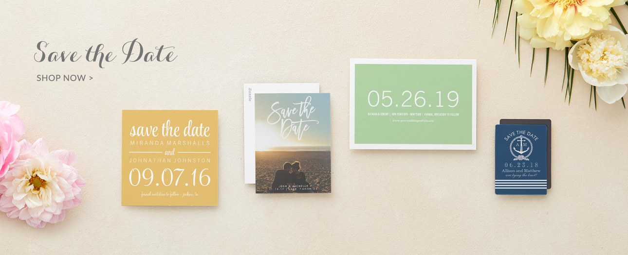 Save the Date Flat & Folded Cards