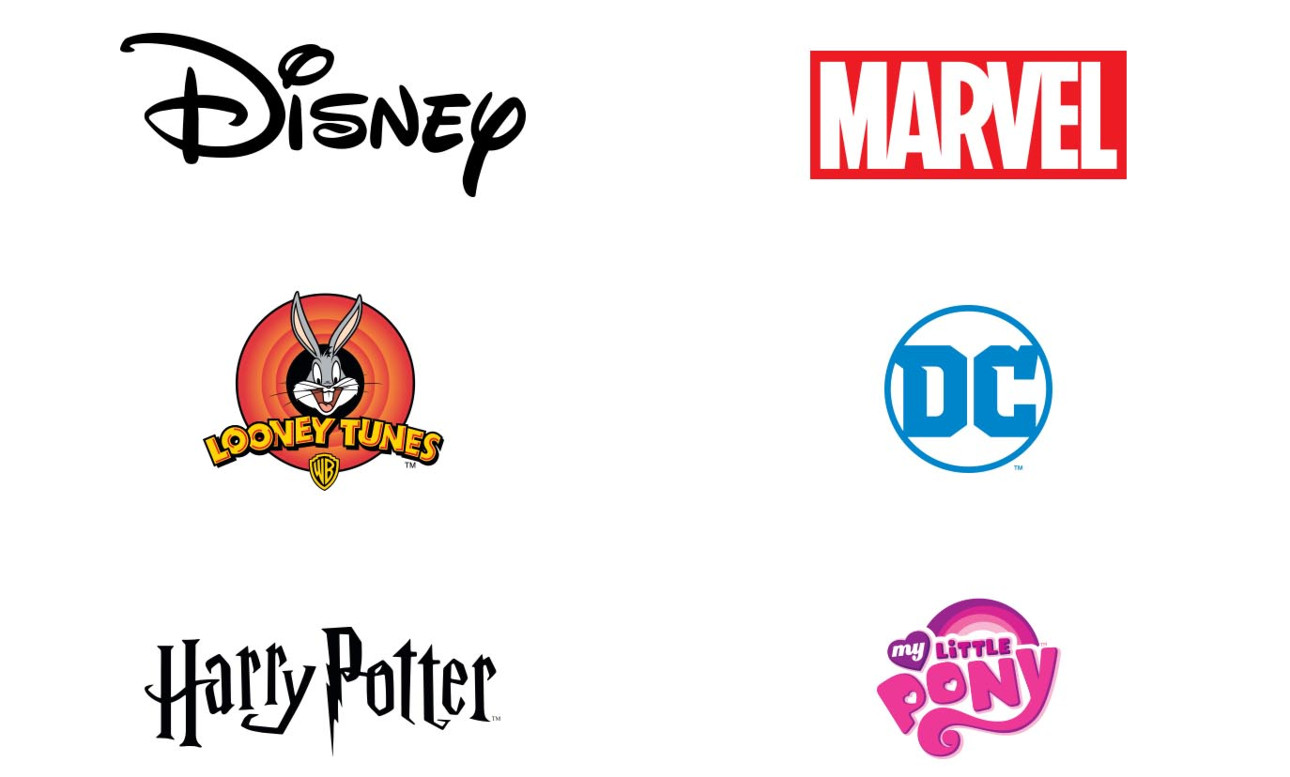 Shop our officially licensed brand partner stores to find thousands of familiar designs from Disney, Marvel, & more!