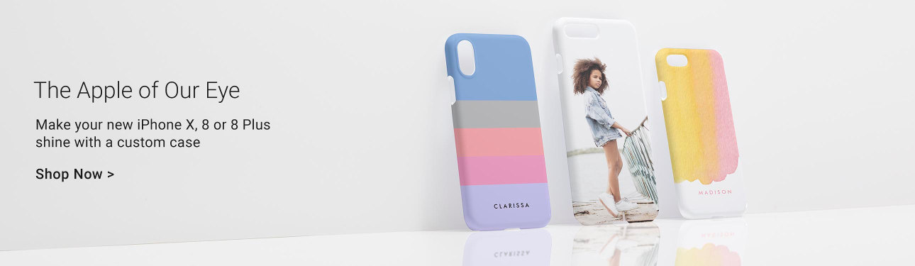 The Apple of Our Eye - Make your new iPhone X, 8 or 8 Plus shine with a custom case!