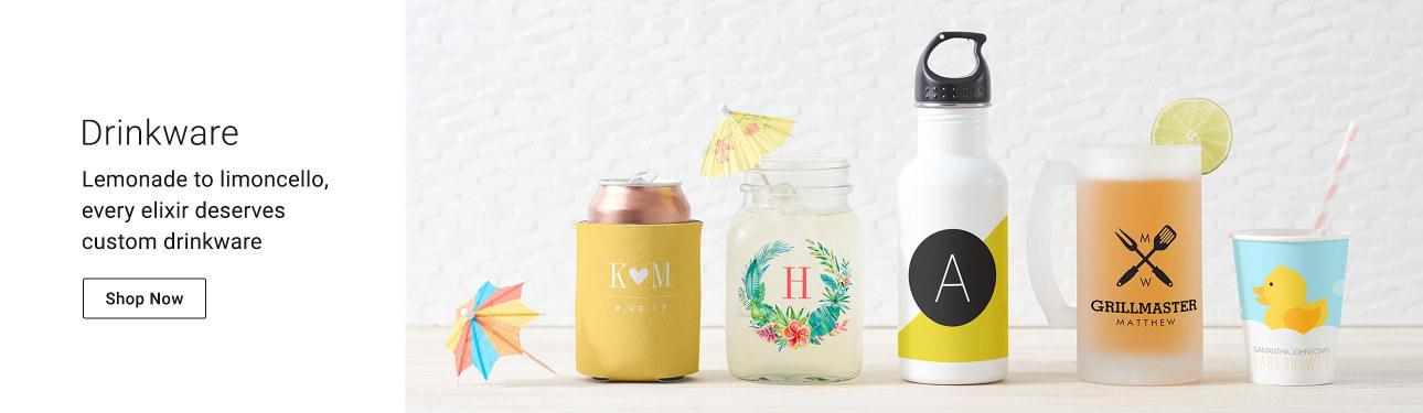 Drinkware - Lemonade to limoncello, every elixir deserves custom drinkware