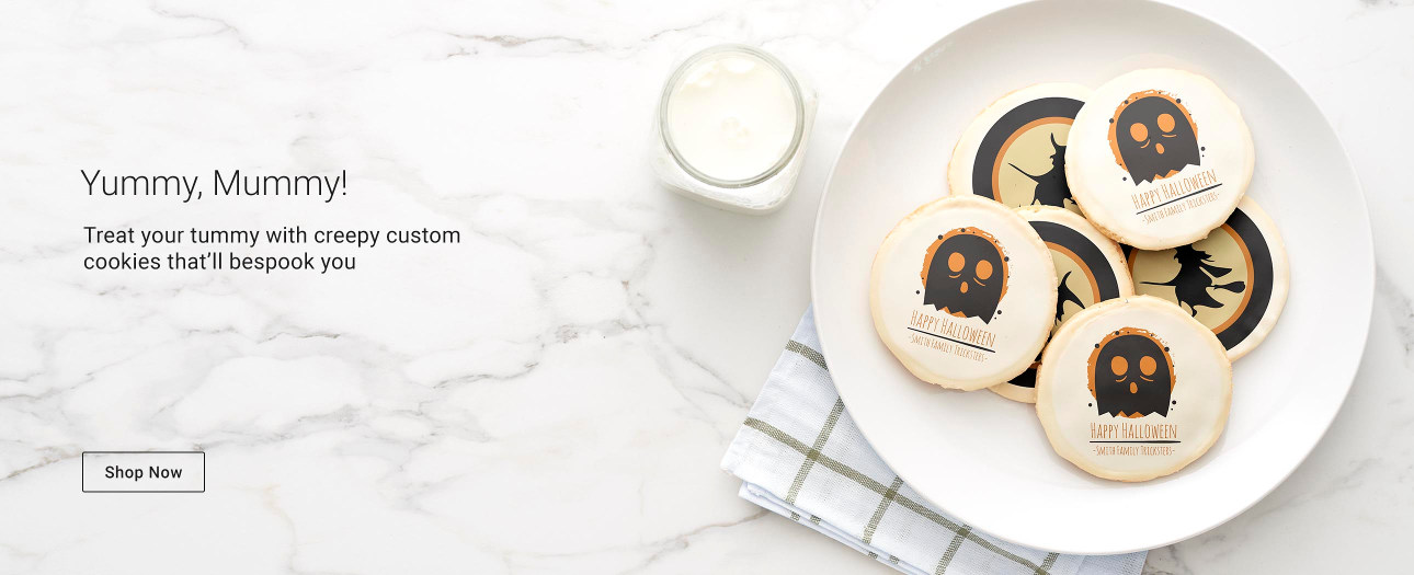 Yummy, Mummy! Treat your tummy with creepy custom cookies that'll bespook you