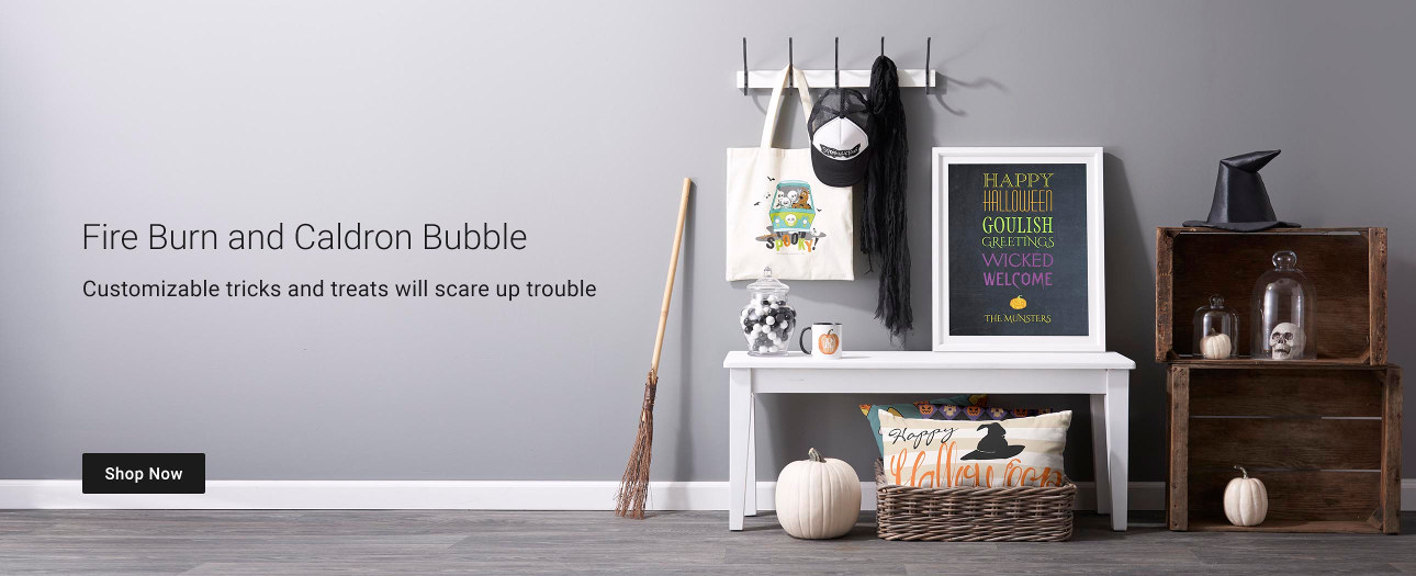 Fire Burn and Caldron Bubble - Customizable tricks and treats will scare up trouble