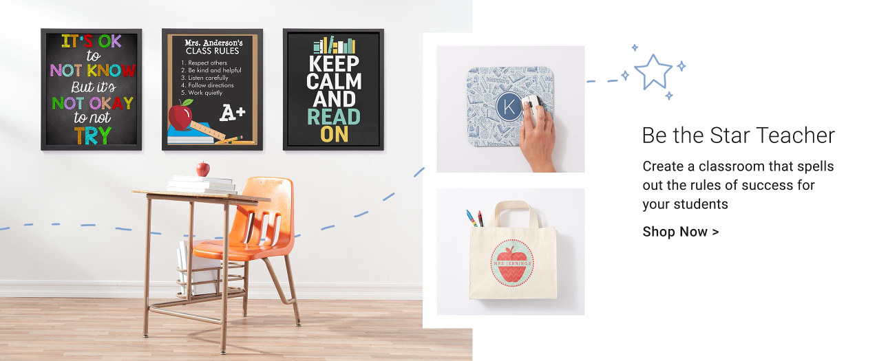 Be the Star Teacher - Create a classroom that spells out the rules for success for your students. Shop posters, bags, & more!
