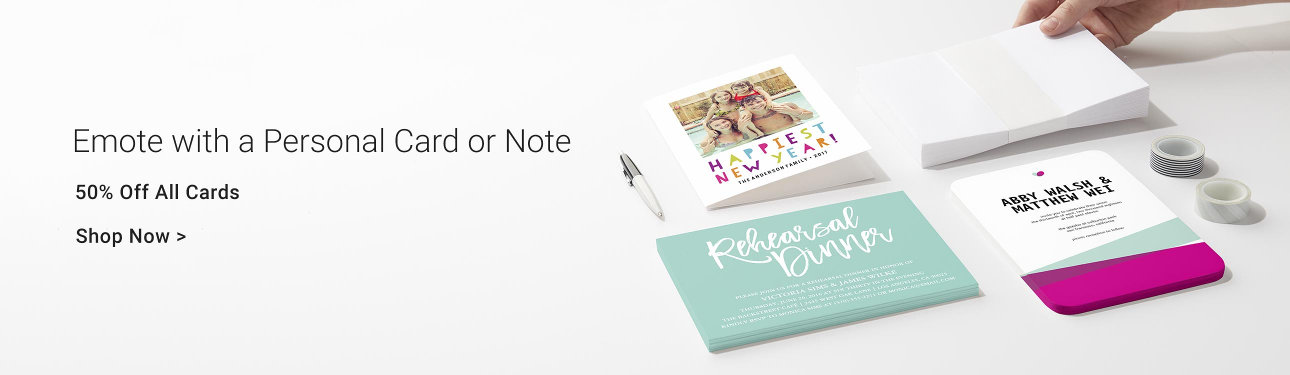 Emote with a Personal Card or Note - 50% off all cards - send love and best wishes and make their day