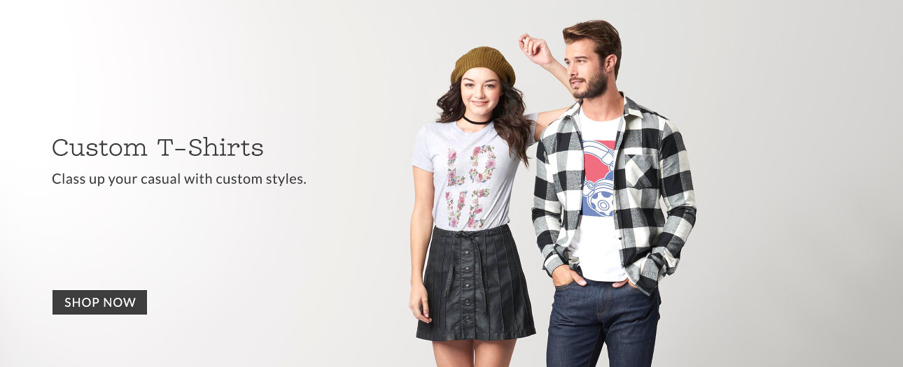 Custom T-Shirts. Class up your casual with custom styles.