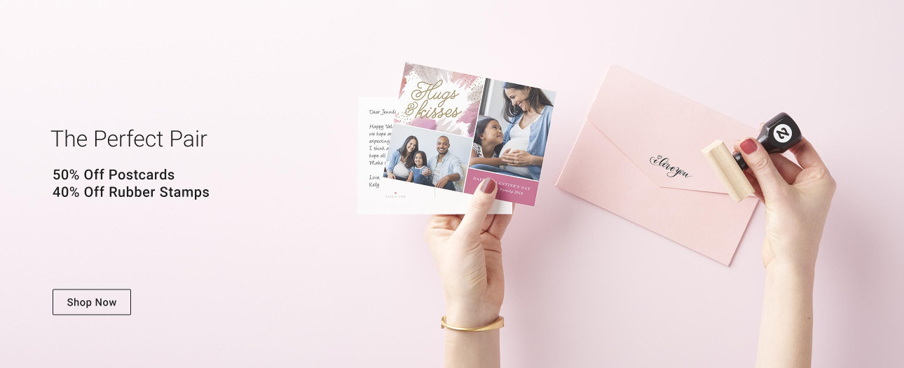 The Perfect Pair - Grab your postcards and rubber stamps from Zazzle today!