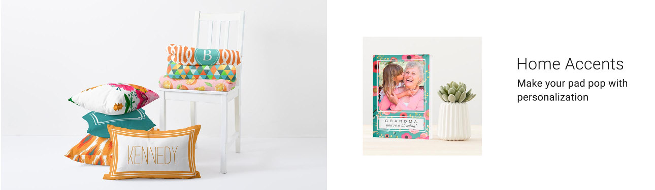 Home Accents - Upgrade your home décor with our candles, clocks, photo cubes, key racks, & coat racks!