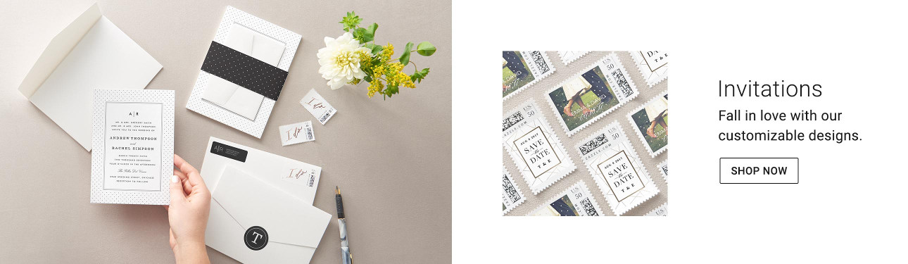 Invitations - Fall in love with our customizable designs. Shop now!