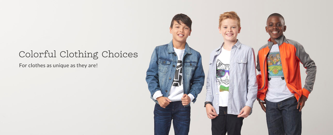 Colorful Clothing Choices - For clothes as unique as they are!