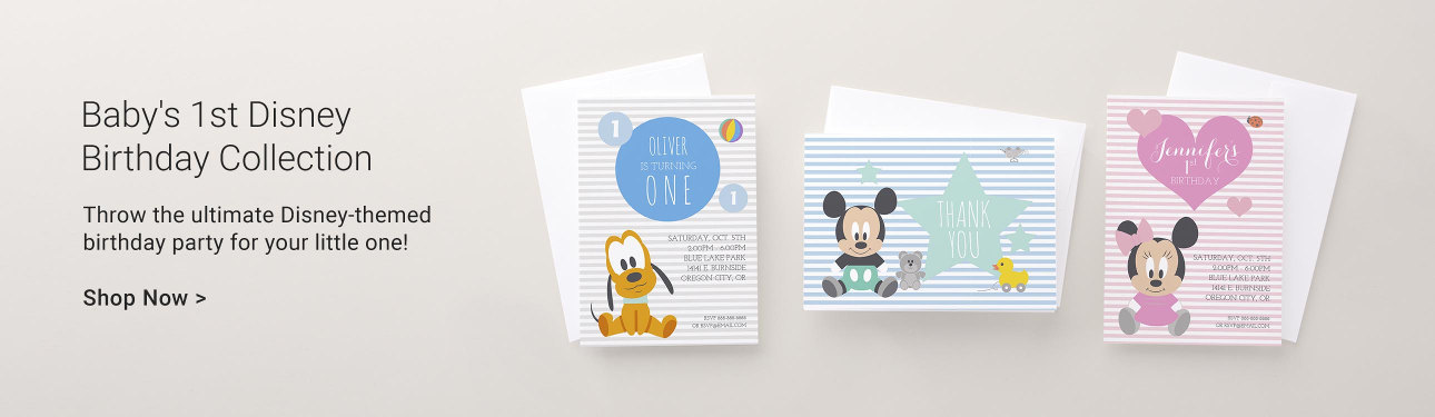 Disney Baby's 1st Birthday Collection. Shop Now!