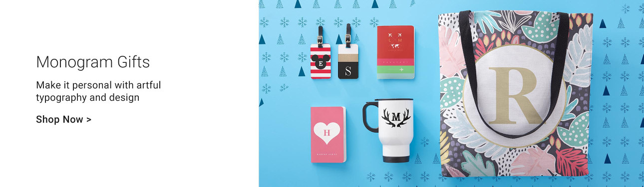 Monogram Gifts - Make it personal with artful typography and design