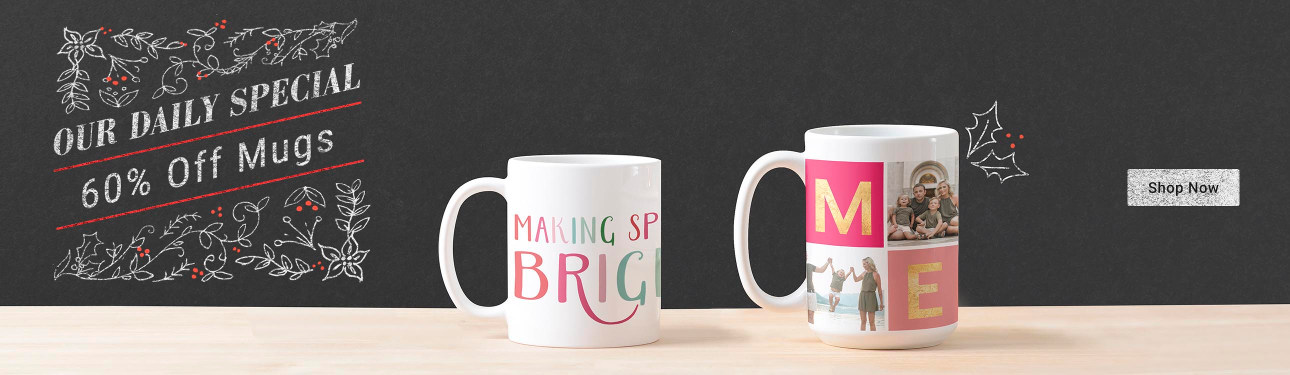 Our Daily Special! 60% Off Mugs - Making Spirits Bright Christmas Coffee Mug - Colorful Merry Multi Photo Holiday Photo Mug
