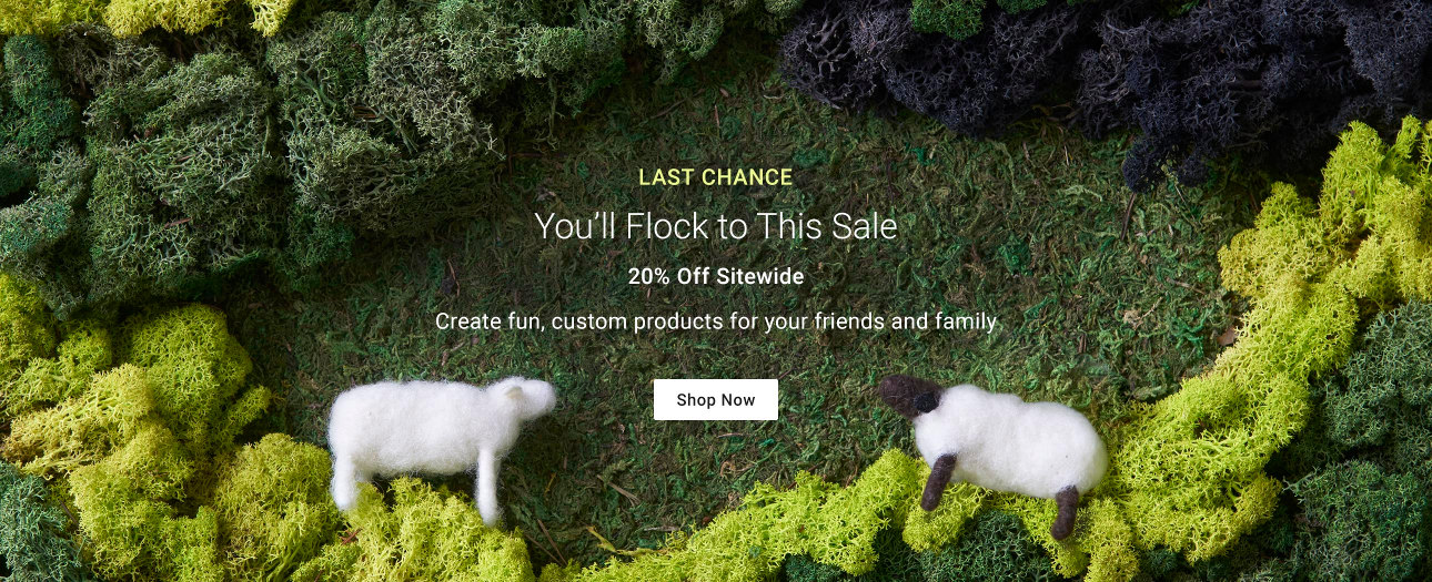 You'll Flock to This Sale - Create fun, custom products for your friends and family!