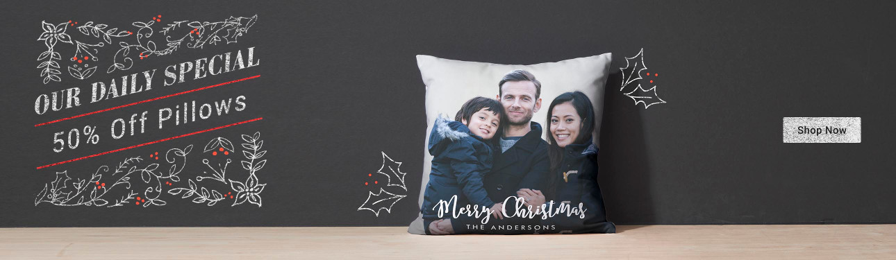 Our Daily Special - 50% Off Pillows - Shop for your customizable throw pillow today!