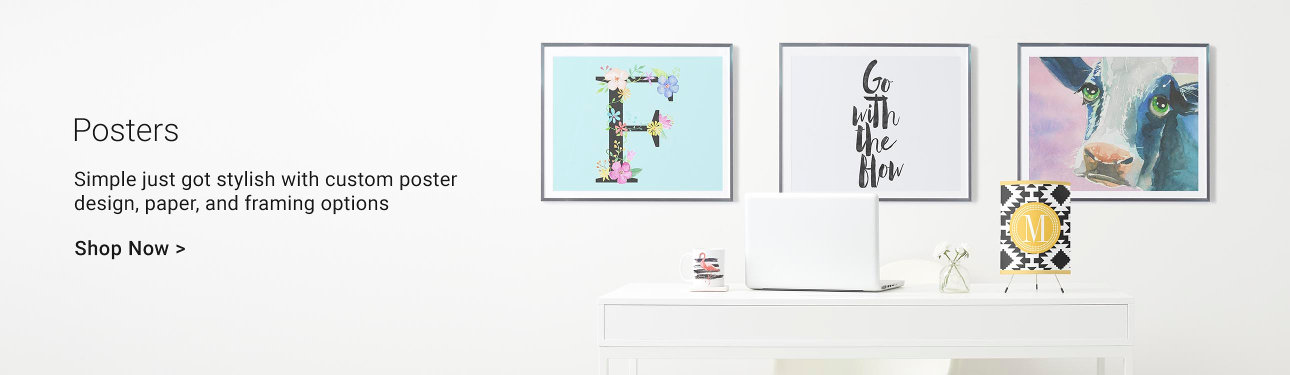 Posters - Simple just got stylish with custom poster design, paper, and framing options