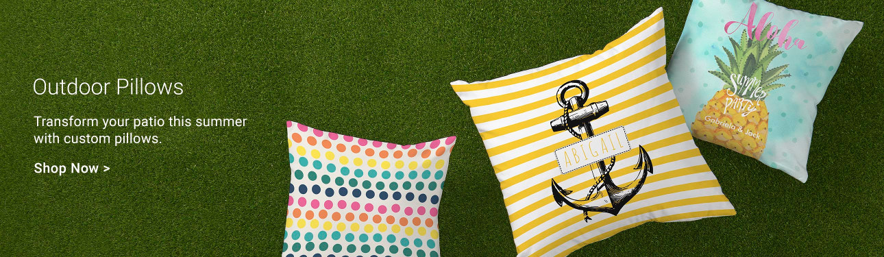Outdoor Pillows - Transform your patio this summer with custom pillows.