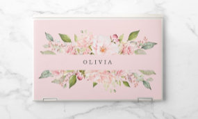 Personalized floral laptop skins.