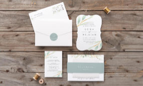 Put together your perfect day with custom invites and thank yous