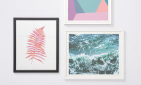 Show your creativity and imagination by customizing your own wall art!