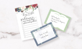 Personalized stationery, note pads and Post-it® notes.