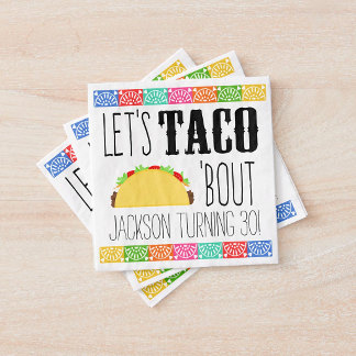 Paper Napkins - Taco 'Bout Birthday Party Paper Napkin