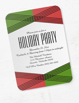 Contemporary Holiday Party Invites