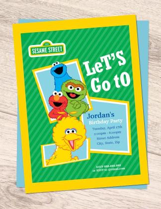 Sesame Street Invites