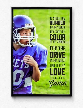 Sports Custom Photo Poster