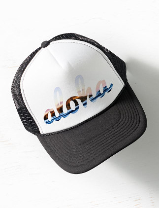 Vintage Hats - Aloha Diamond Head Trucker Hat