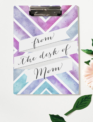 Browse through our incredible selection of Mother's Day gifts, such as this watercolor clipboard.