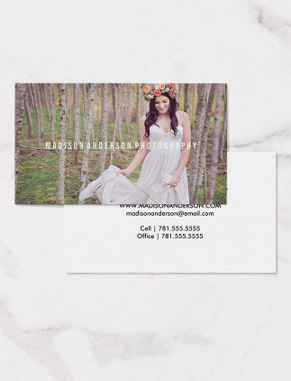 Business Cards - Minimal Overlay | Photography Business Cards