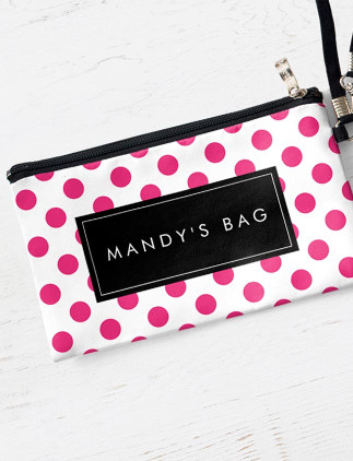 Personalized <br />Cosmetic Bags