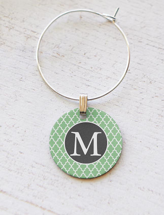 Monogram <br />Wine Charms