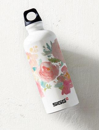 Floral <br />Water Bottles