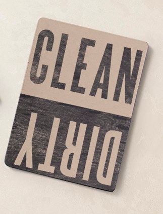 Dishwasher Magnets - Clean | Dirty Letterpress Style Dishwasher Magnet