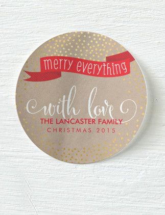 Personalized <br />Christmas Stickers