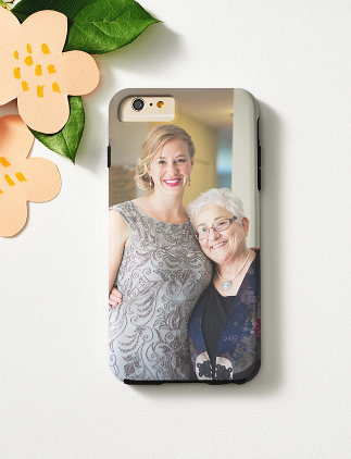 Browse through our incredible selection of Mother's Day gifts, such as this photo iPhone 6 case.