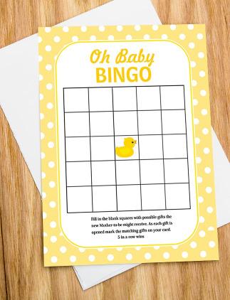 Baby BINGO Cards
