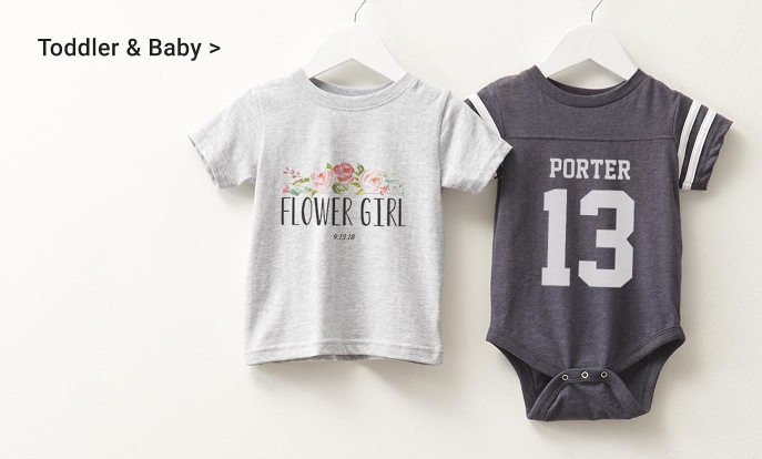 Custom Toddler & Baby Shirts