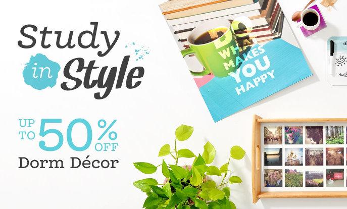 Up to 50% Off Dorm Décor