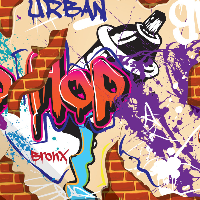 Urban Hip Hop Graffiti Wall. iPod Case-Mate Case