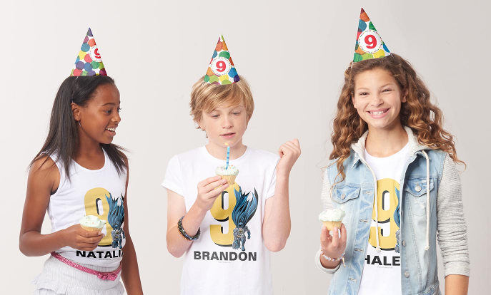 Birthdays - Make it a birthday to remember with custom party t-shirts and hats!