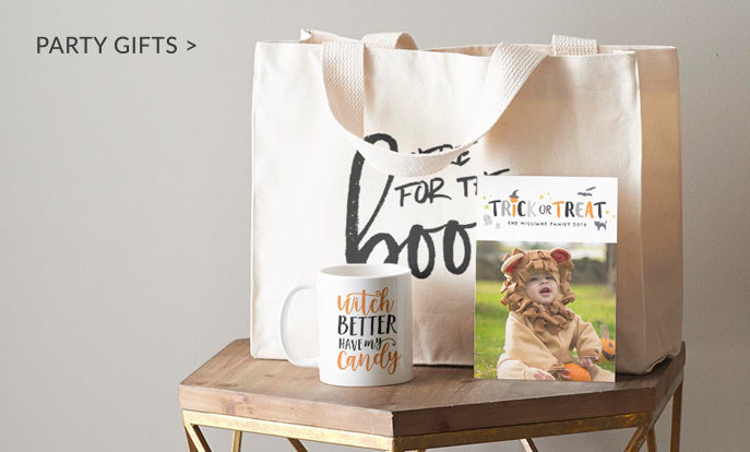 Halloween Party Gifts - Tote Bags, Coffee Mugs & Photo Cards
