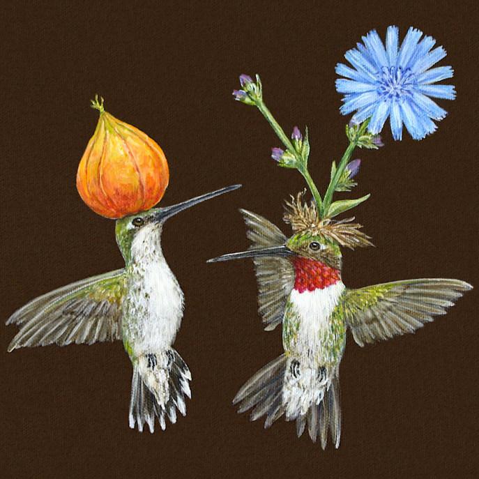Doug and Cheryl hummingbird card
