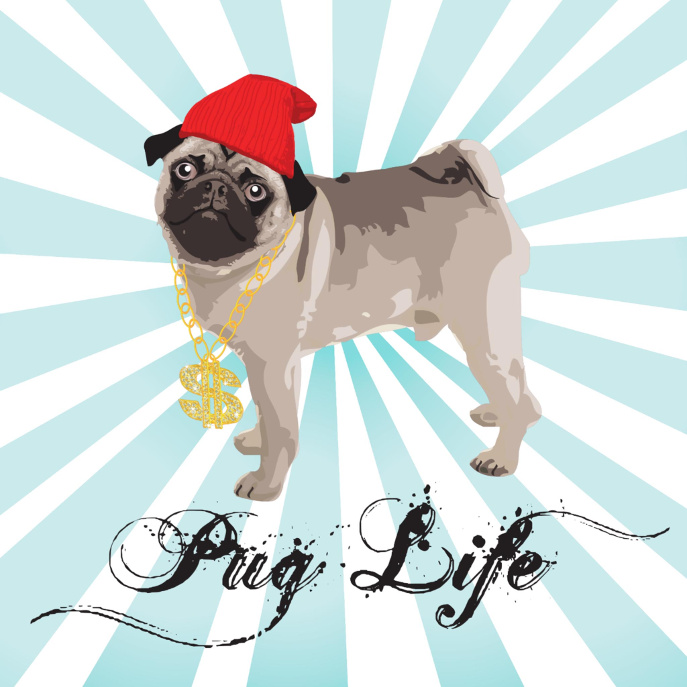 Pug Life Gansta ipad mini case