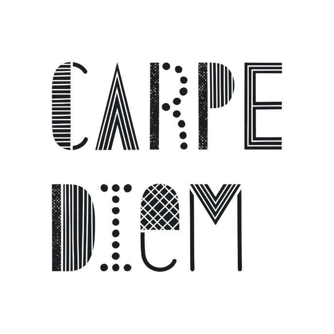 Carpe Diem Pillow - White