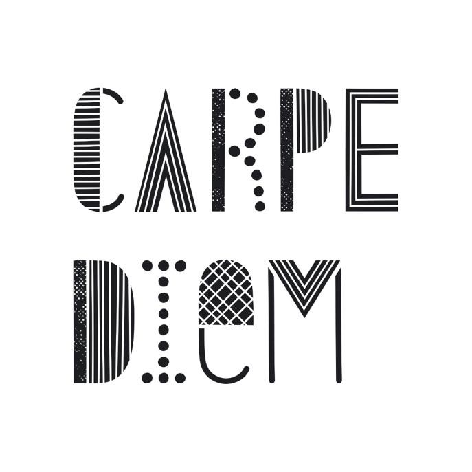 Carpe Diem Pillow - White