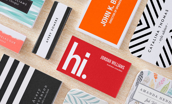 Browse the Custom Business Cards Collection and personalize by color, design, or style.
